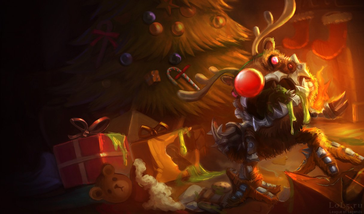 Wallpaper_League_of_Legends-307, Kog'Maw (Размеры 1215x717px/102.8Kb)